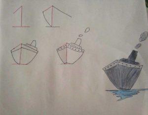 Basit Resim Teknikleri İle Gemi Çizimi