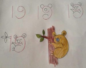 Basit Resim Teknikleri İle Koala Çizimi