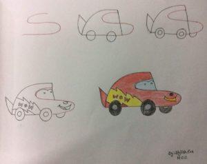 Basit Resim Teknikleri İle Araba Çizimi