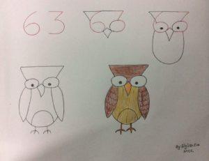 Basit Resim Teknikleri İle Baykuş Çizimi