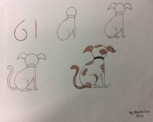 Basit Resim Teknikleri İle Köpek Çizimi