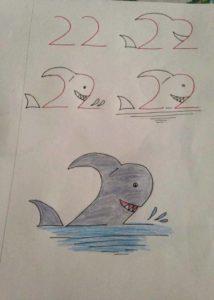 Basit Resim Teknikleri İle Köpekbalığı Çizimi
