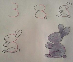 Basit Resim Teknikleri İle Tavşan Çizimi